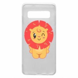 Чехол для Samsung S10 Lion with orange mane