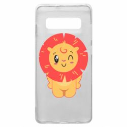 Чехол для Samsung S10+ Lion with orange mane