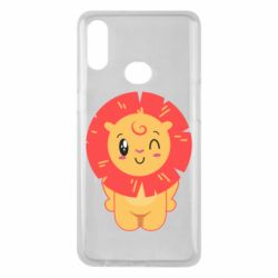 Чехол для Samsung A10s Lion with orange mane