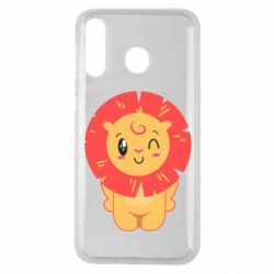 Чехол для Samsung M30 Lion with orange mane