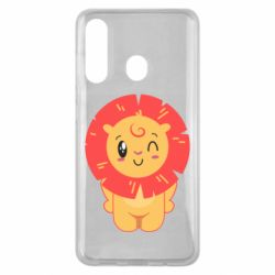 Чехол для Samsung M40 Lion with orange mane