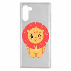 Чехол для Samsung Note 10 Lion with orange mane