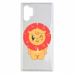 Чехол для Samsung Note 10 Plus Lion with orange mane