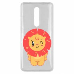 Чехол для Xiaomi Mi9T Lion with orange mane