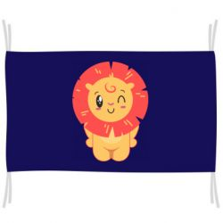 Флаг Lion with orange mane