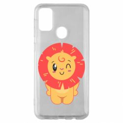 Чехол для Samsung M30s Lion with orange mane