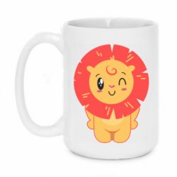 Кружка 420ml Lion with orange mane