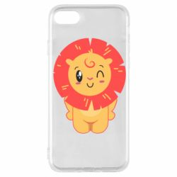 Чехол для iPhone 7 Lion with orange mane