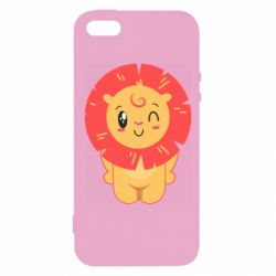 Чехол для iPhone5/5S/SE Lion with orange mane