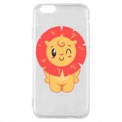 Чехол для iPhone 6/6S Lion with orange mane