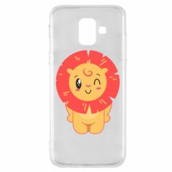 Чехол для Samsung A6 2018 Lion with orange mane