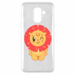 Чехол для Samsung A6+ 2018 Lion with orange mane