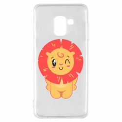Чехол для Samsung A8 2018 Lion with orange mane