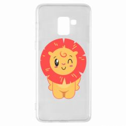 Чехол для Samsung A8+ 2018 Lion with orange mane