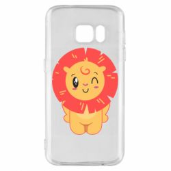 Чехол для Samsung S7 Lion with orange mane