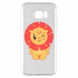 Чехол для Samsung S7 EDGE Lion with orange mane