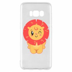Чехол для Samsung S8 Lion with orange mane