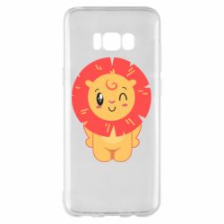 Чехол для Samsung S8+ Lion with orange mane