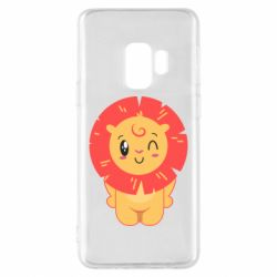 Чехол для Samsung S9 Lion with orange mane