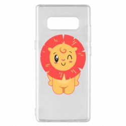 Чехол для Samsung Note 8 Lion with orange mane