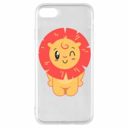 Чехол для iPhone 8 Lion with orange mane