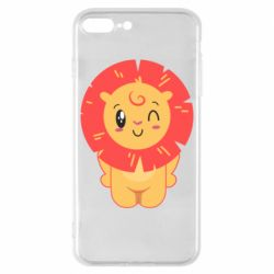 Чехол для iPhone 8 Plus Lion with orange mane