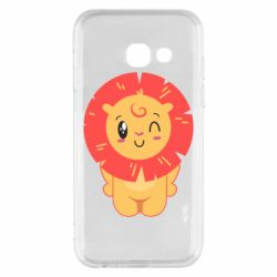 Чехол для Samsung A3 2017 Lion with orange mane