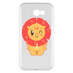Чехол для Samsung A7 2017 Lion with orange mane