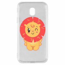 Чехол для Samsung J3 2017 Lion with orange mane