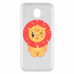 Чехол для Samsung J5 2017 Lion with orange mane