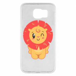 Чехол для Samsung S6 Lion with orange mane