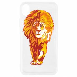 Чохол для iPhone XR Lion yellow and red