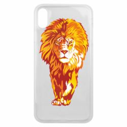 Чохол для iPhone Xs Max Lion yellow and red