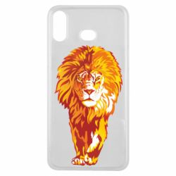 Чохол для Samsung A6s Lion yellow and red