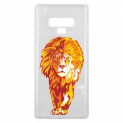 Чохол для Samsung Note 9 Lion yellow and red