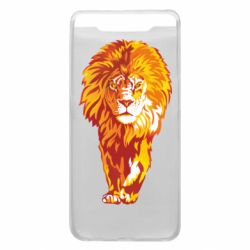 Чохол для Samsung A80 Lion yellow and red