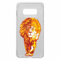 Чохол для Samsung S10e Lion yellow and red