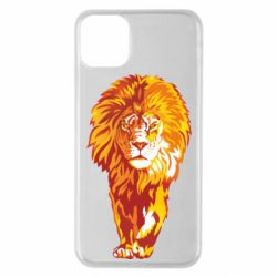 Чохол для iPhone 11 Pro Max Lion yellow and red