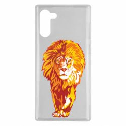 Чохол для Samsung Note 10 Lion yellow and red
