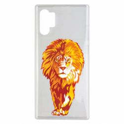 Чохол для Samsung Note 10 Plus Lion yellow and red