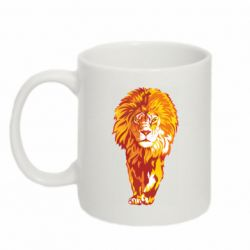Кружка 320ml Lion yellow and red