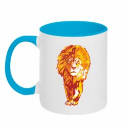 Кружка двоколірна 320ml Lion yellow and red