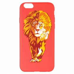 Чохол для iPhone 6 Plus/6S Plus Lion yellow and red