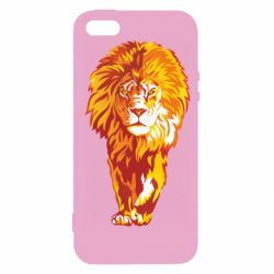 Чохол для iphone 5/5S/SE Lion yellow and red