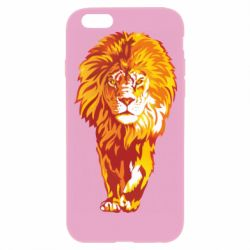 Чохол для iPhone 6/6S Lion yellow and red