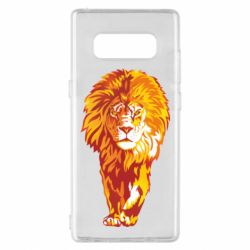 Чохол для Samsung Note 8 Lion yellow and red