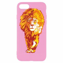 Чохол для iPhone 8 Lion yellow and red
