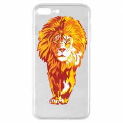 Чохол для iPhone 8 Plus Lion yellow and red
