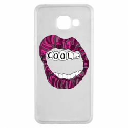 Чохол для Samsung A3 2016 Lips with the words cool