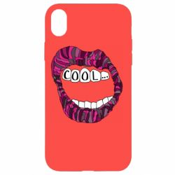 Чохол для iPhone XR Lips with the words cool